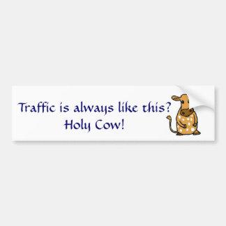 Funny Holy Cow Bumper sticker Car Bumper Sticker