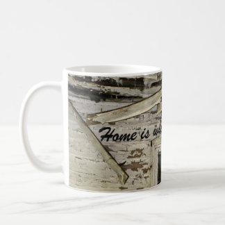 Funny Home Is Where The Heart Is Coffee Mug