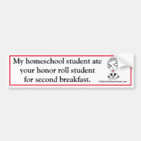 Funny Homeschool Bumper Sticker