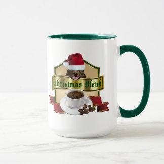 Funny Honey Badger Christmas Blend Coffee Mug