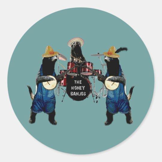 Funny Honey Badger Classic Round Sticker