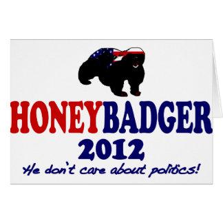 Funny Honey Badger for President 2012 Card
