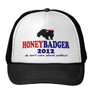 Funny Honey Badger for President 2012 Trucker Hat