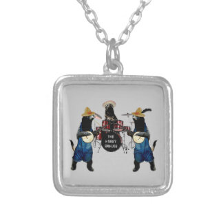 Funny Honey Badger Square Pendant Necklace