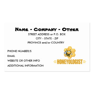 Funny Honey Bee Double-Sided Standard Business Cards (Pack Of 100)