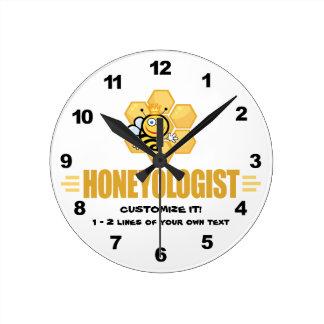 Funny Honey Bee Round Clock