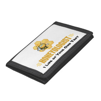Funny Honey Bee Tri-fold Wallet