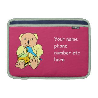 Funny honey loving bear cartoon sleeve for MacBook air