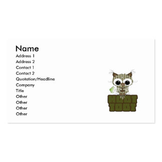 Funny Hoot Toot Cute Farting Owl Double-Sided Standard Business Cards (Pack Of 100)