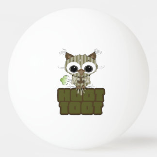 Funny Hoot Toot Cute Farting Owl Ping-Pong Ball