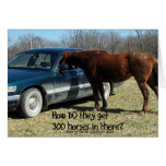 "Funny Horse ""300 Horse"" Greeting Card"