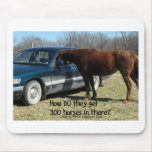 """Funny Horse """"300 Horse"""" Mouse Pad"""