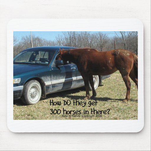 "Funny Horse ""300 Horse"" Mouse Pad"