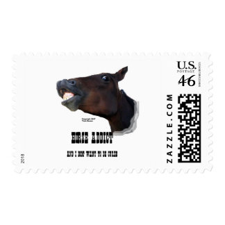 Funny Horse Addict Postage Stamps