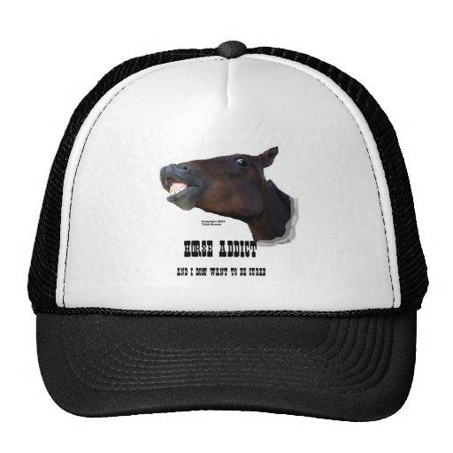 Funny Horse Addict Trucker Hat