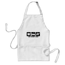 Funny horse adult apron