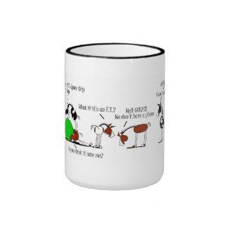 Funny Horse and Donkey Cartoon Coffee Mug