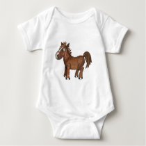 Funny Horse AVAL Baby Bodysuit