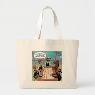 Funny Horse Bank Robber Large Tote Bag