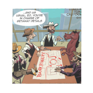 Funny Horse Bank Robber Note Pad
