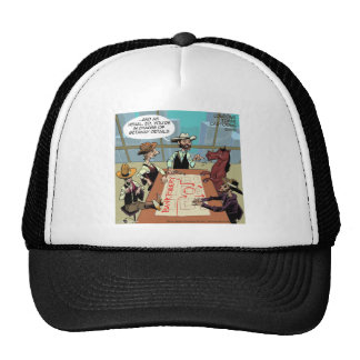 Funny Horse Bank Robber Trucker Hat