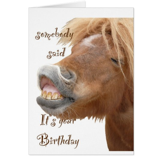 Funny horse birthday card zazzle funny horse birthday card bookmarktalkfo Image collections