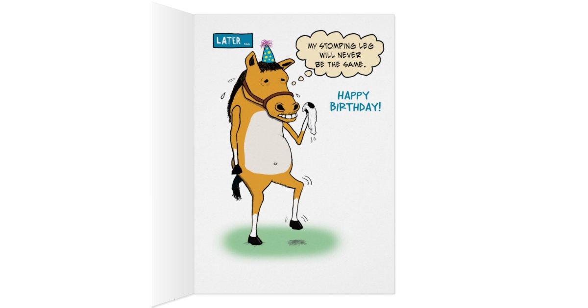 Funny Horse Birthday Card | Zazzle