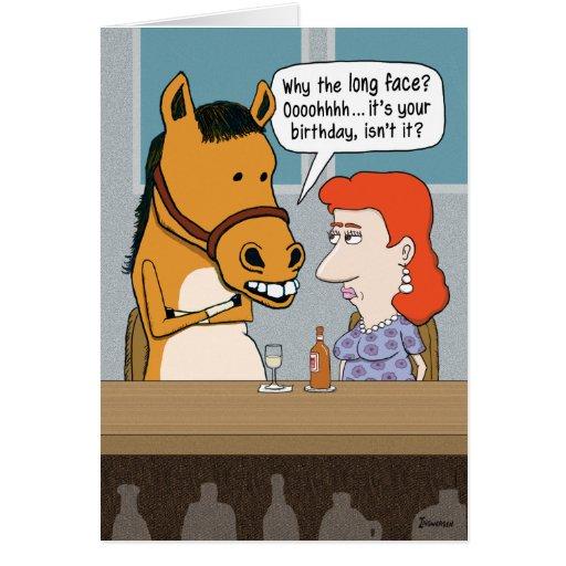 Funny Horse Birthday Card