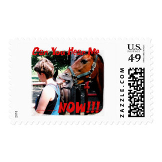 Funny Horse: Can You hear me now? Postage Stamp