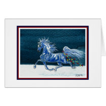 Funny Horse Christmas Card