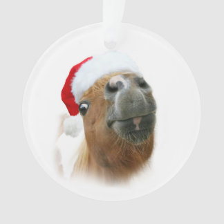 Funny horse Christmas Ornament