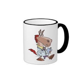 funny horse doc doctor cartoon coffee mugs