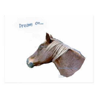 Funny Horse: Dream On Postcard