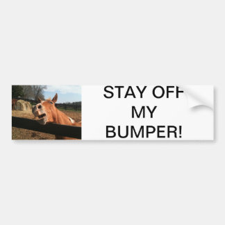 FUNNY HORSE FACE BUMPER STICKER