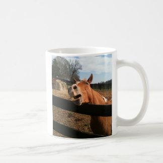 FUNNY HORSE FACE COFFEE MUG