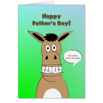 Funny Horse Face Father's Day Card