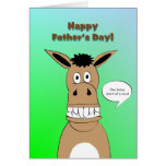 Funny Horse Face Father's Day Greeting Card