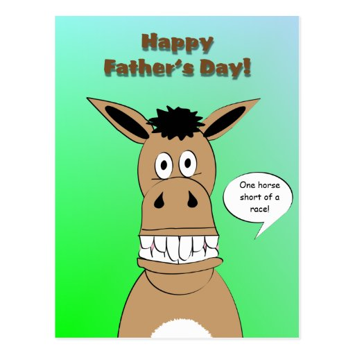 Funny Horse Face Father's Day Postcard