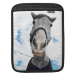 Funny Horse Face Getting Lippy Sleeve For iPads