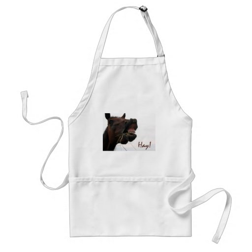 Funny Horse: Hay! Adult Apron