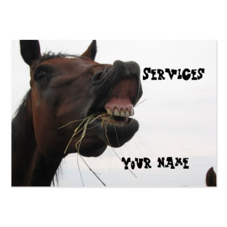 Funny Horse Hay Business Card
