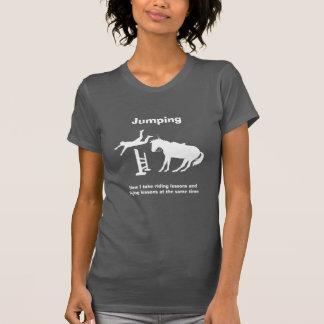 Funny Horse Jumping Flying Falling Humor T-Shirt