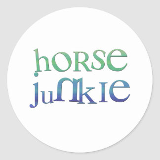 Funny Horse Junkie Gifts & Tees Classic Round Sticker