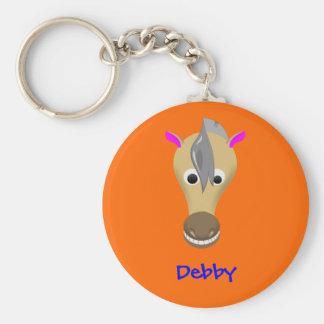 Funny horse keychain