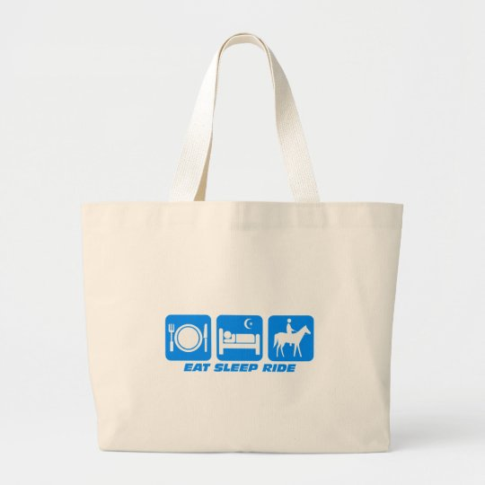 Funny horse large tote bag