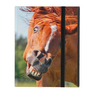 Funny Horse Laughing Photograph iPad Folio Case