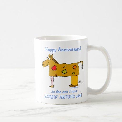Funny Horse Lover's Happy Anniversary Mug