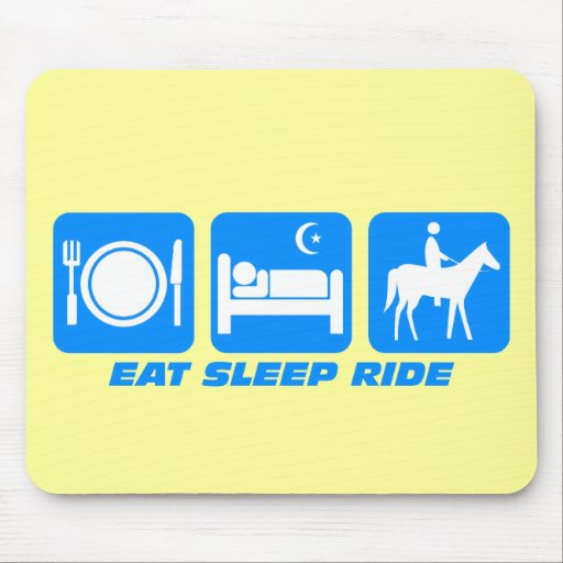 Funny horse mouse mats