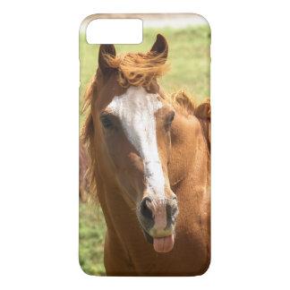 Funny Horse Photo Sticking Tongue Out Animal Photo iPhone 8 Plus/7 Plus Case