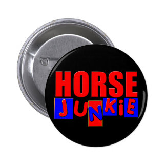 Funny horse pinback button
